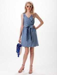 leona denim dress